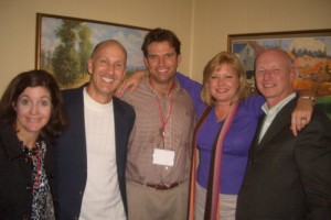 with Meg Sandlin, Gordon Fox, Tonya and Wally Conway